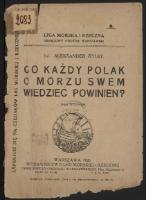 Aleksander Rylke, 1926, Co każdy polak o morzu swem wiedzieć powinien