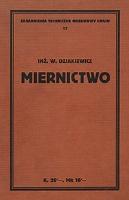 Dziakiewicz, Włodzimierz - Miernictwo