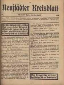 Neustadter Kreis - Blatt, nr.31, 1916