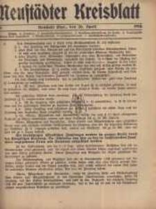 Neustadter Kreis - Blatt, nr.34, 1916