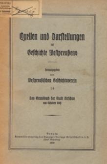 Das Grundbuch der Stadt Dirschau