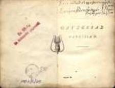 HOMERI ODYSSEA, PARS I