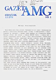 GazetAMG, 1991, R. 1, nr 1