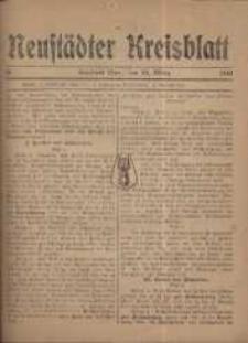 Neustadter Kreis - Blatt, nr.24, 1918