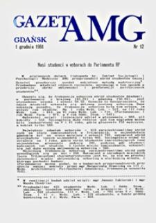 GazetAMG, 1991, R. 1, nr 12