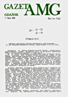 GazetAMG, 1992, R. 2, nr 7