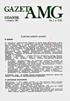 GazetAMG, 1992, R. 2, nr 8