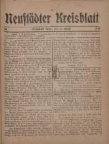 Neustadter Kreis - Blatt, nr.26, 1918