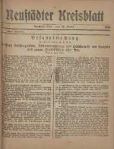 Neustadter Kreis - Blatt, nr.30, 1918
