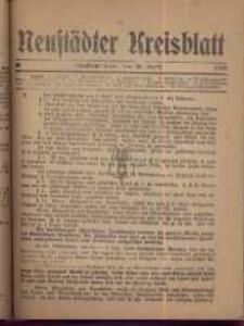 Neustadter Kreis - Blatt, nr.35, 1918