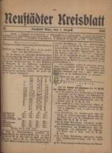 Neustadter Kreis - Blatt, nr.63, 1918