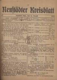 Neustadter Kreis - Blatt, nr.67, 1918