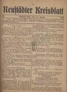 Neustadter Kreis - Blatt, nr.69, 1918