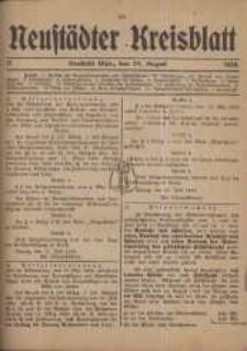 Neustadter Kreis - Blatt, nr.71, 1918