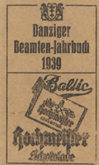 Danziger Beamten - Jahrbuch ...1939