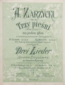 Wieczorem = Des Abends : [pieśń] F-dur : op.33 no 2 : [na głos wysoki] z towarzyszeniem fortepianu / ins Deutsche übertr. von Josef Kościelski
