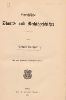 Preussische Staats- und Rechtsgeschichte