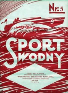 Sport Wodny, 1939, nr 5