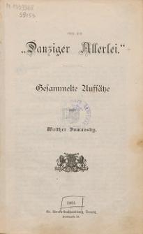 """Danziger Allerlei"" : gesammelte Aufsätze"