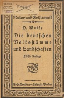 Die deutschen Volksstämme und Landschaften