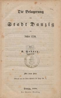 Die Belagerung der Stadt Danzig im Jahre 1734