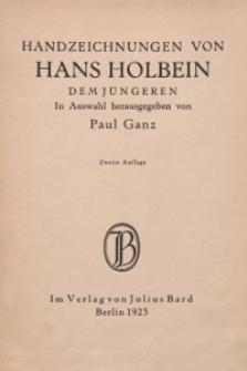 Handzeichnungen von Hans Holbein : dem Jüngeren