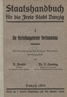 Die Verfassunggebende Versammlung : mit Genehmigung des Danziger Staatsrats