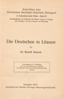 Die Deutschen in Litauen