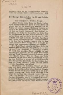 Die Danziger Stadtverfassung im 16. und 17. Jahrhundert