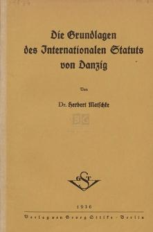 Die Grundlagen des Internationalen Statuts von Danzig