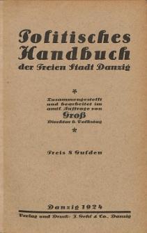 Politisches Handbuch der Freien Stadt Danzig
