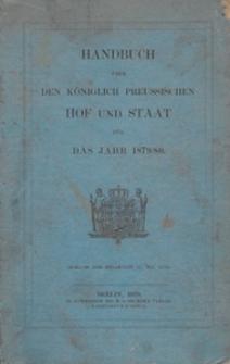 Handbuch über den Königlich Preussischen Hof und Staat : für das Jahr ....1879/80