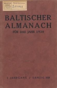 Baltischer Almanach für das Jahr 1928