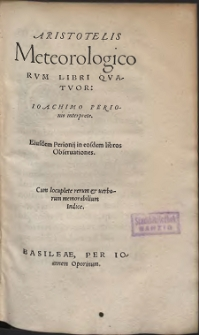 Aristotelis Meteorologicorvm libri qvatvor (skany: 919 - 1108)