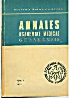 Annales Academiae Medicae Gedanensis, 1971, t. 1