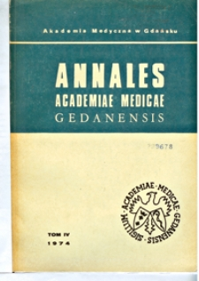 Annales Academiae Medicae Gedanensis, 1974, t. 4