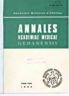 Annales Academiae Medicae Gedanensis, 1992, t. 22