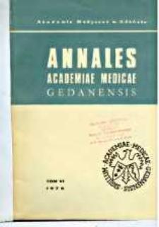 Annales Academiae Medicae Gedanensis, 1976, t. 6