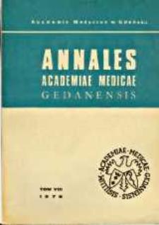Annales Academiae Medicae Gedanensis, 1978, t. 8