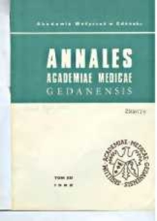 Annales Academiae Medicae Gedanensis, 1982, t. 12