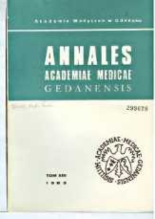 Annales Academiae Medicae Gedanensis, 1983, t. 13
