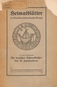 Die deutschen Schwankbucher des 16 Jahrhunderts