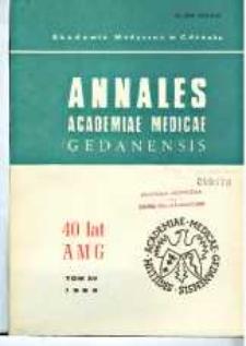 Annales Academiae Medicae Gedanensis, 1985, t. 15