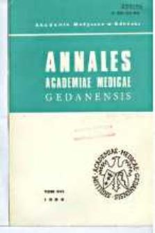 Annales Academiae Medicae Gedanensis, 1986, t. 16