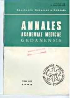 Annales Academiae Medicae Gedanensis, 1989, t. 19