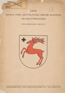 Über Wahl und Gestaltung neuer Wappen in Westpreussen