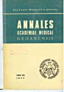 Annales Academiae Medicae Gedanensis, 1977, t. 7