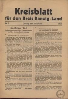 Kreisblatt fur den Kreis Danzig-Land nr.2