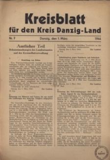 Kreisblatt fur den Kreis Danzig-Land nr.7