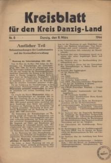 Kreisblatt fur den Kreis Danzig-Land nr.8